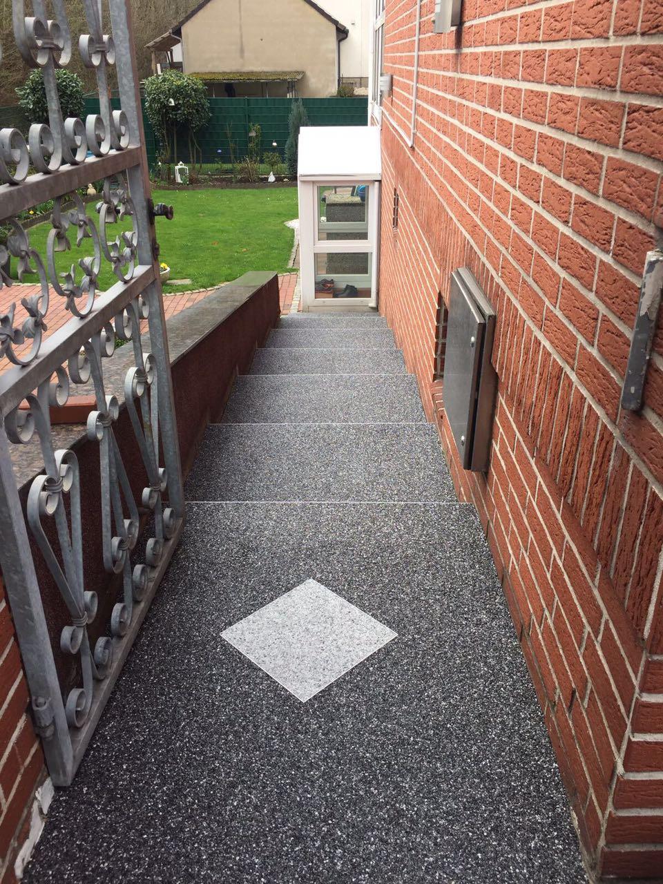 Steinteppich im Garten verlegen